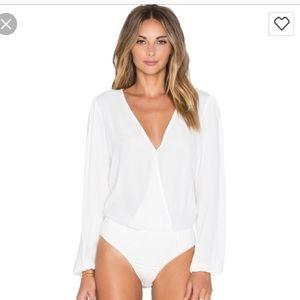 Lovers+Friends wrap bodysuit blouse